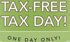 tax free day sign
