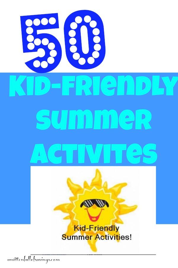 kid friendly summer activities