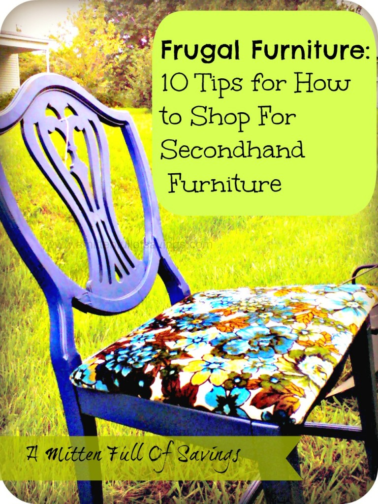 tips on saving on furniture
