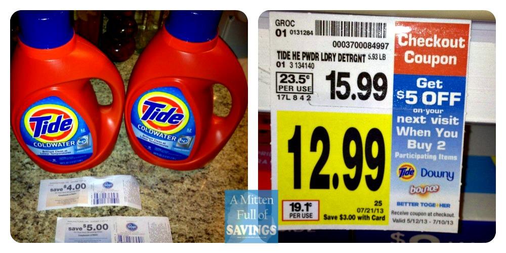 tide detergent deal at kroger