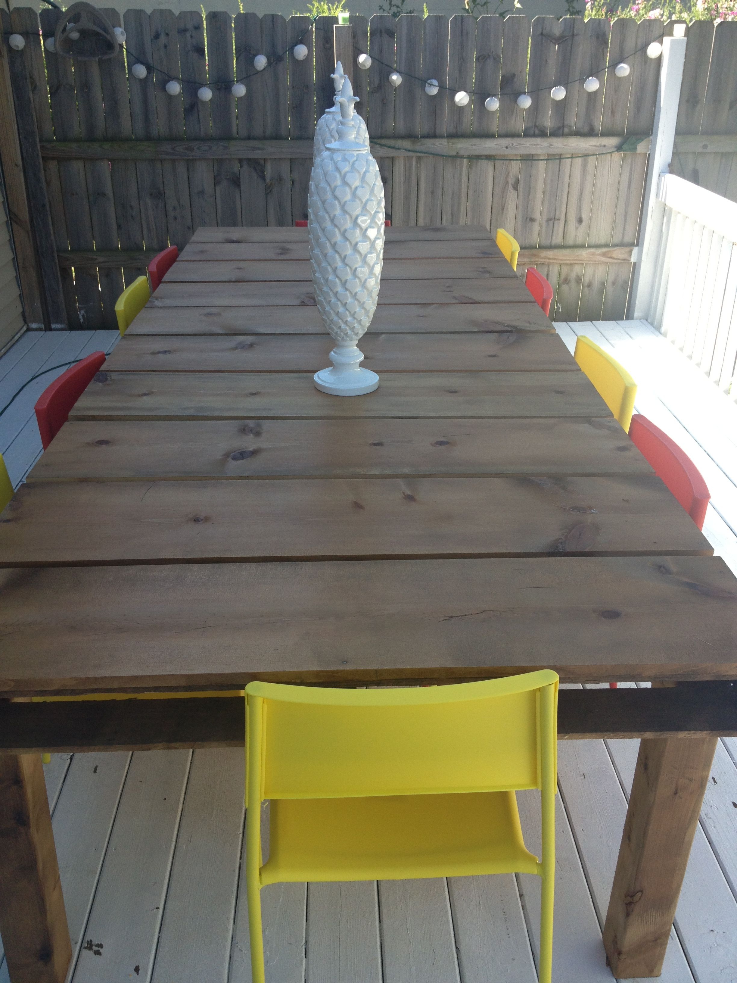 DIY Outdoor Dining Table From Wood Pallets A Mitten Full