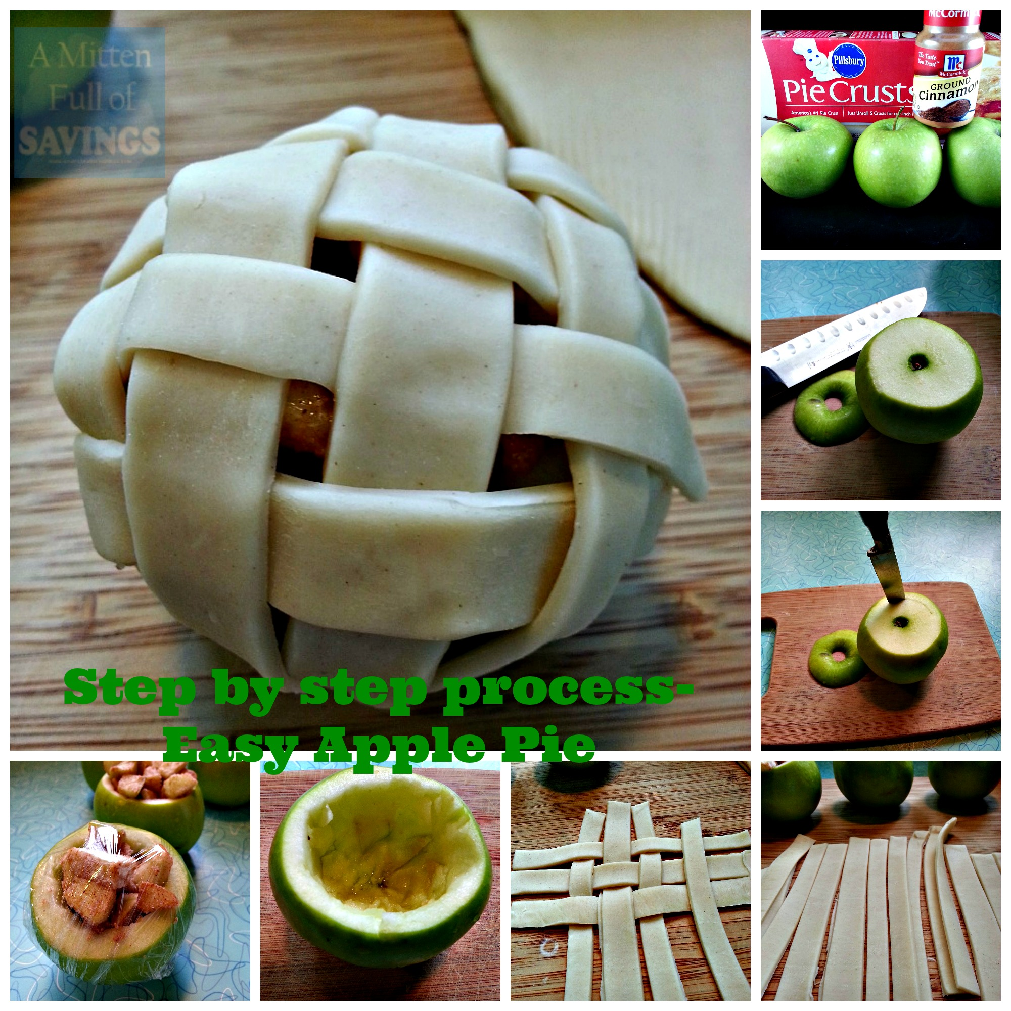 easy apple pie step by step process
