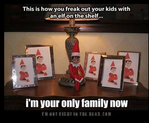 creepy elf on the shelf ideas