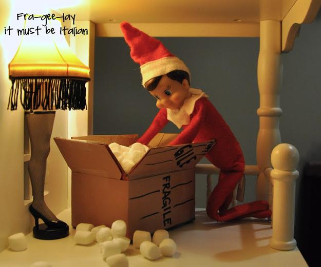 elf christmas story leg