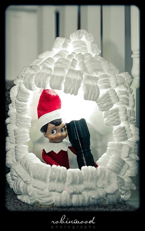 elf on the shelf igloo