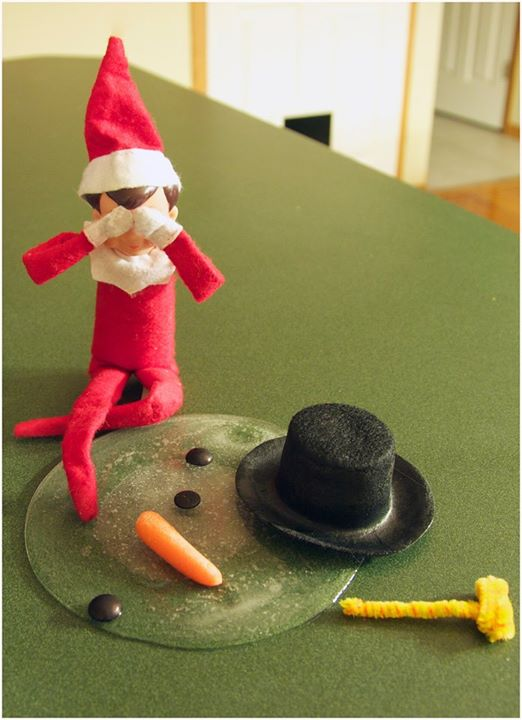 elfie and frosty the snowman