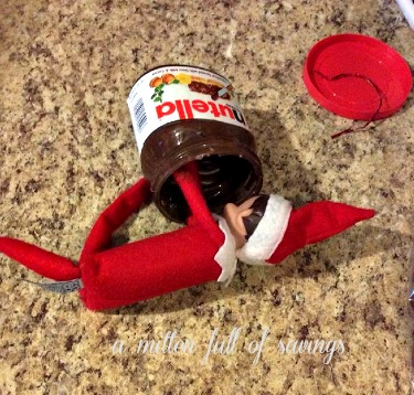 elfie and nutella elf on the shelf