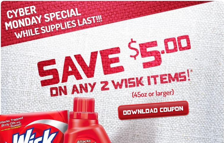 Wisk coupon 2018
