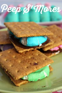 Easter Peeps S'mores recipe