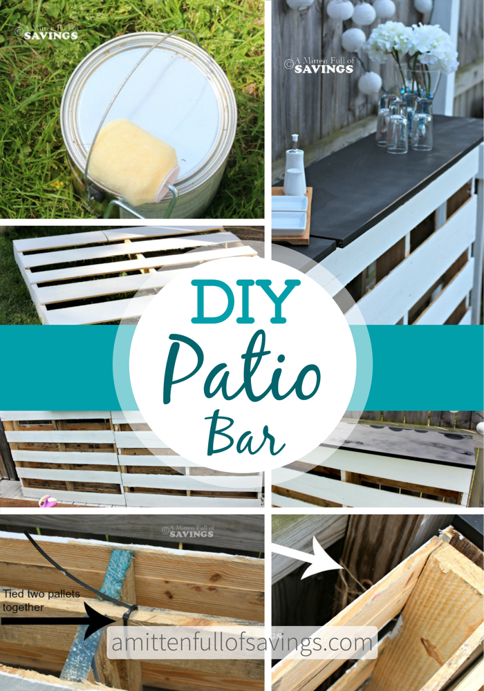 DIY Patio Bar Made Out Of Wood Pallets