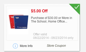 Meijer: $5 off $30 School Supply Coupon & New Back to school coupons