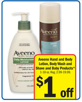 Meijer: MONEYMAKER on Aveeno Products This Week