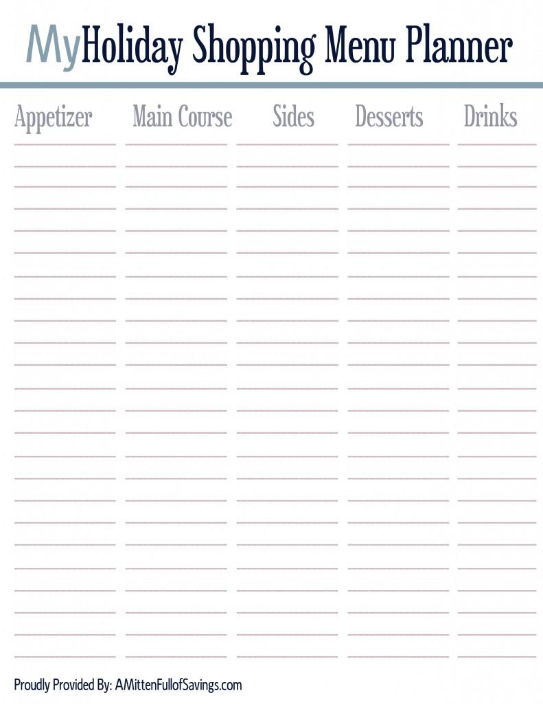 menu meal planning