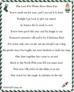 242 x 300 jpeg 26kB, Letter From Elf On The Shelf Pdf | Caroldoey