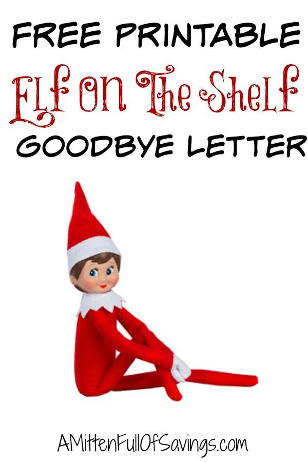 Elf On The Shelf Goodbye Letter