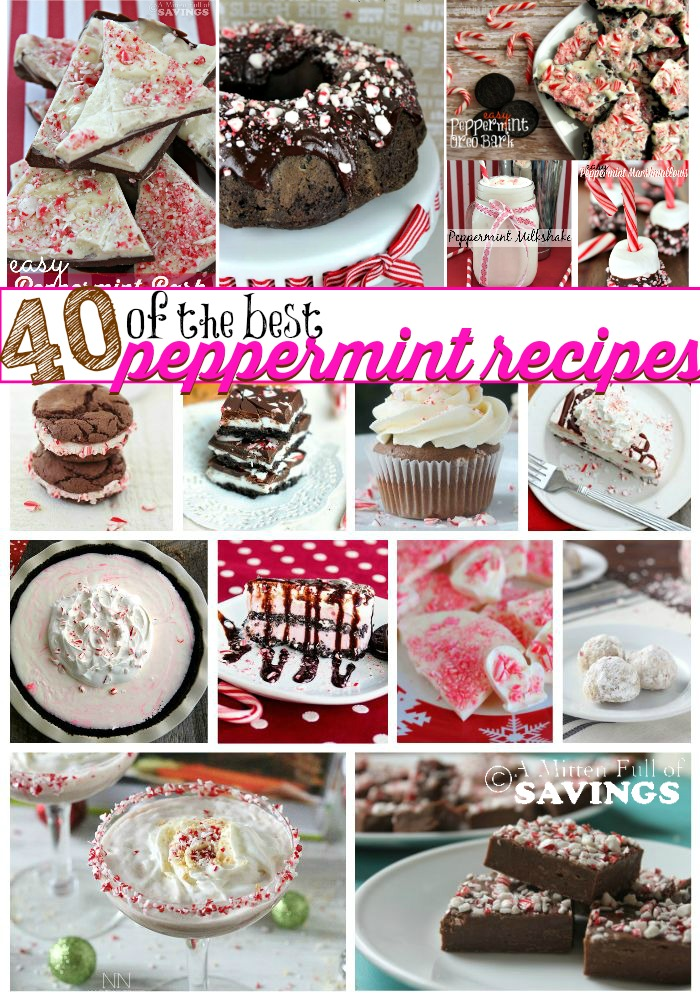 Here's a round of the best Peppermint Recipes found around the Internet and Pinterest! All of the Peppermint recipes you will ever need right in one post! Come find the Perfect Peppermint recipe- pin this for later!