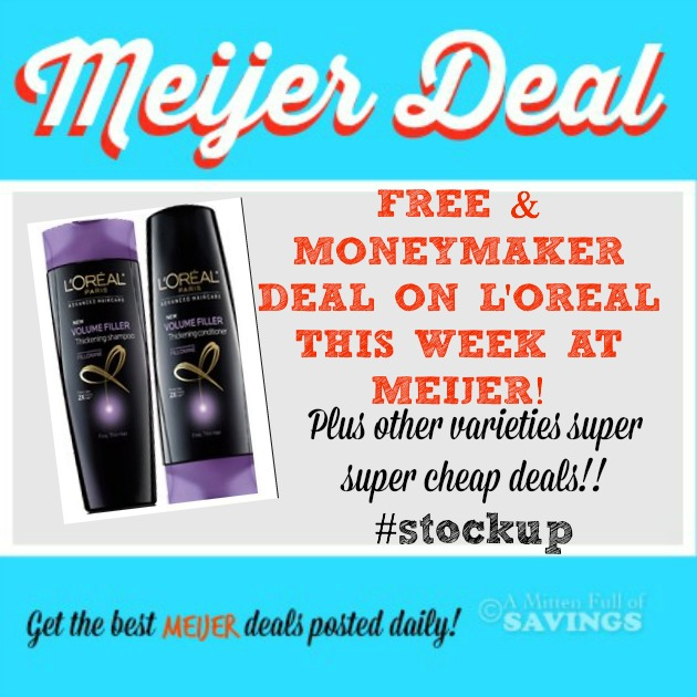 Meijer: L'Oreal Hair Products MONEYMAKER - Cheap Deals This Week! #stockup