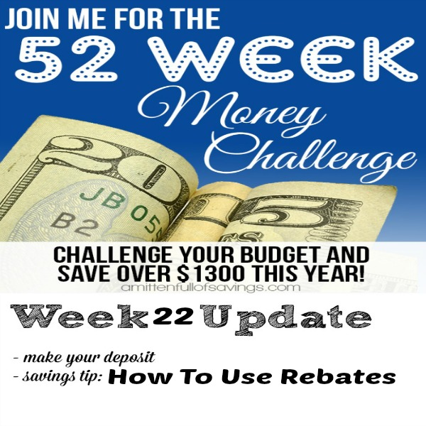 52 week money challenge  how to use rebates
