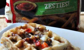 Thee Ultimate Waffle Fries with Bold & Crispy