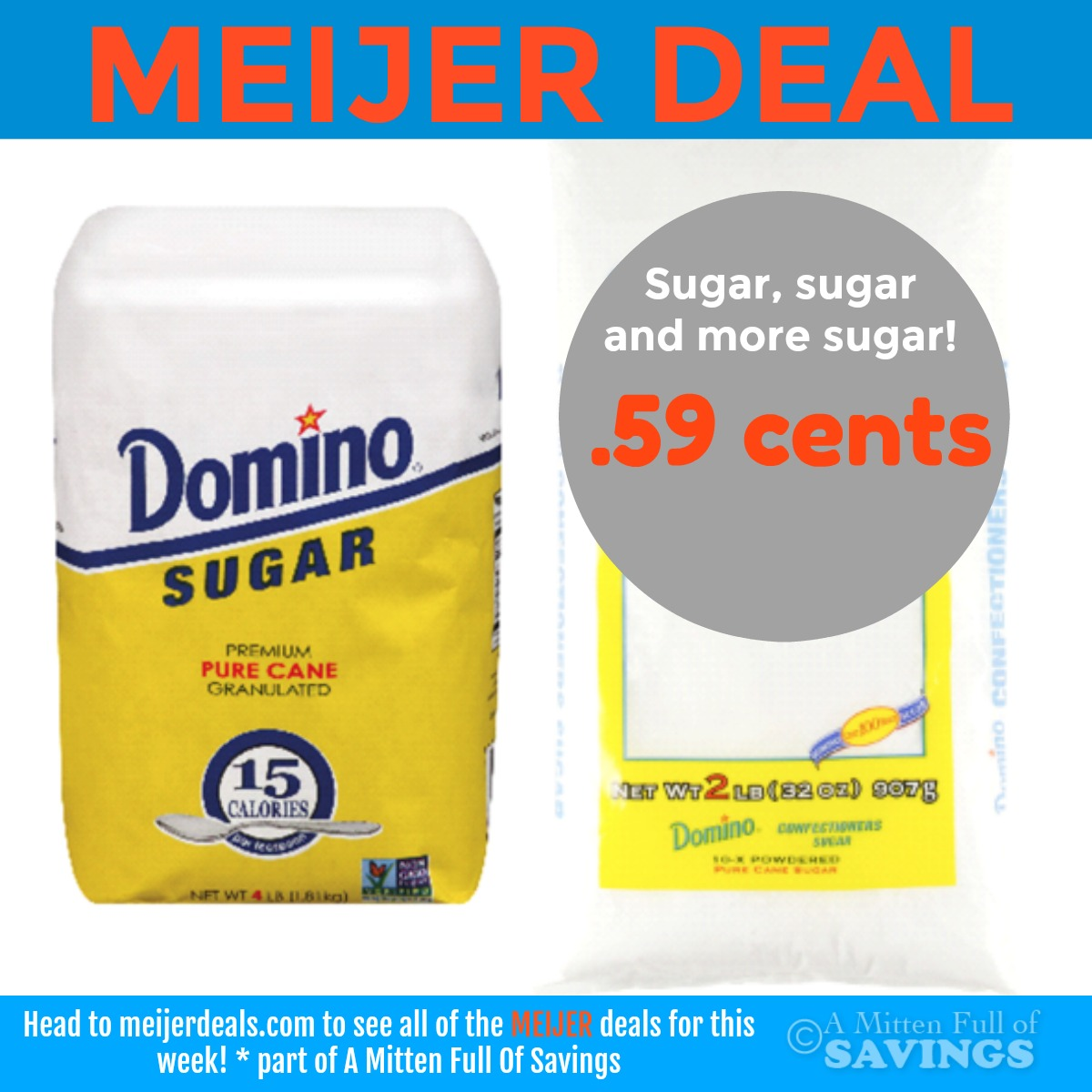 The best deals on Domino sugar are most often found at grocery stores and Walgreens. Look for Domino sugar coupon values ranging from $/2-$/1.