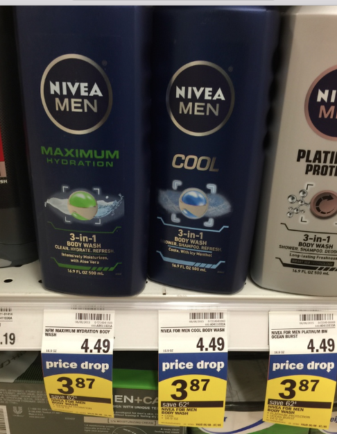 Meijer Deals on Nivea Body Wash FREE- $1.85 & Lotion for $2.57
