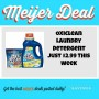 Meijer Oxiclean Laundry detergent deal