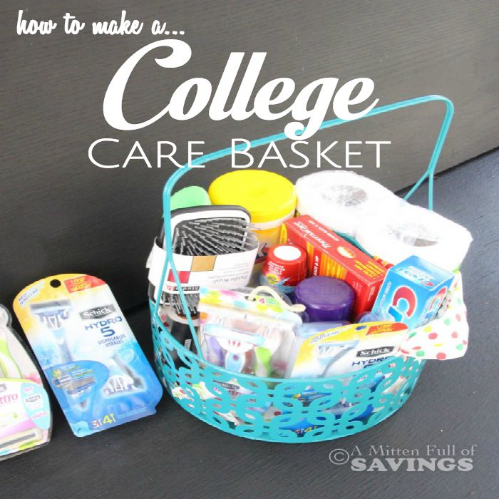 How to make a college care basket negle Image collections