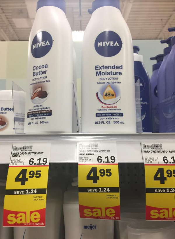 Meijer Price Drops On Nivea Lotion & Body Wash