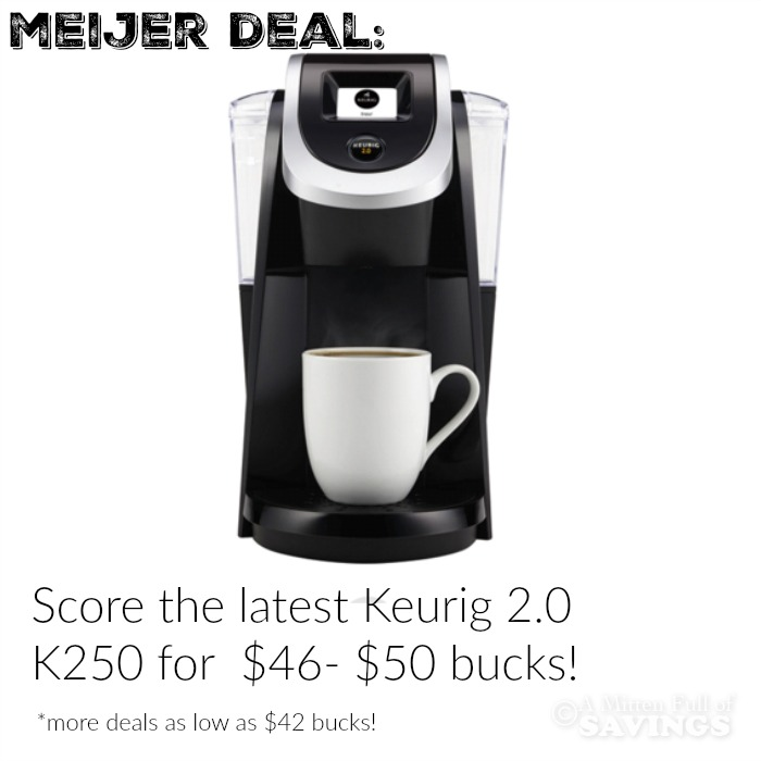 Meijer & Kohls Breakdown on BEST Keurig Deals - A Mitten Full of Savings