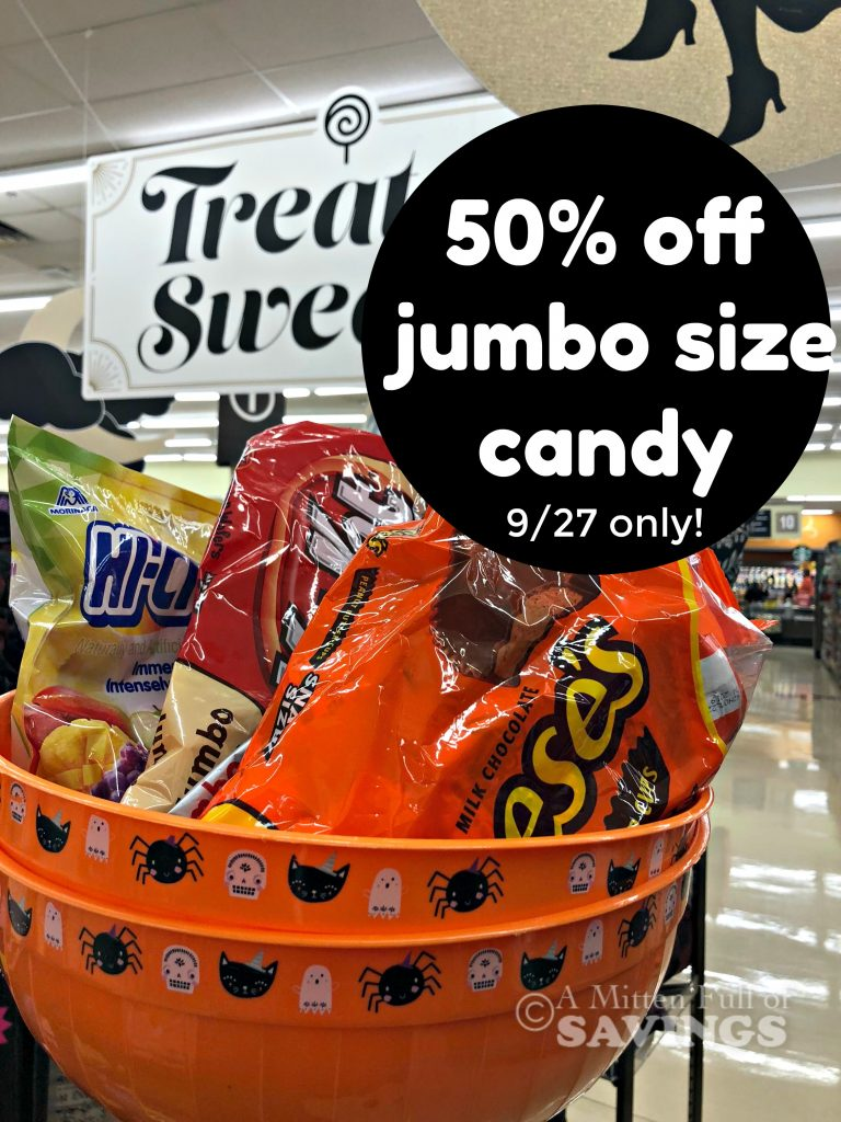 kroger flash sale: 50% off halloween candy- thursday only (9/27) - a